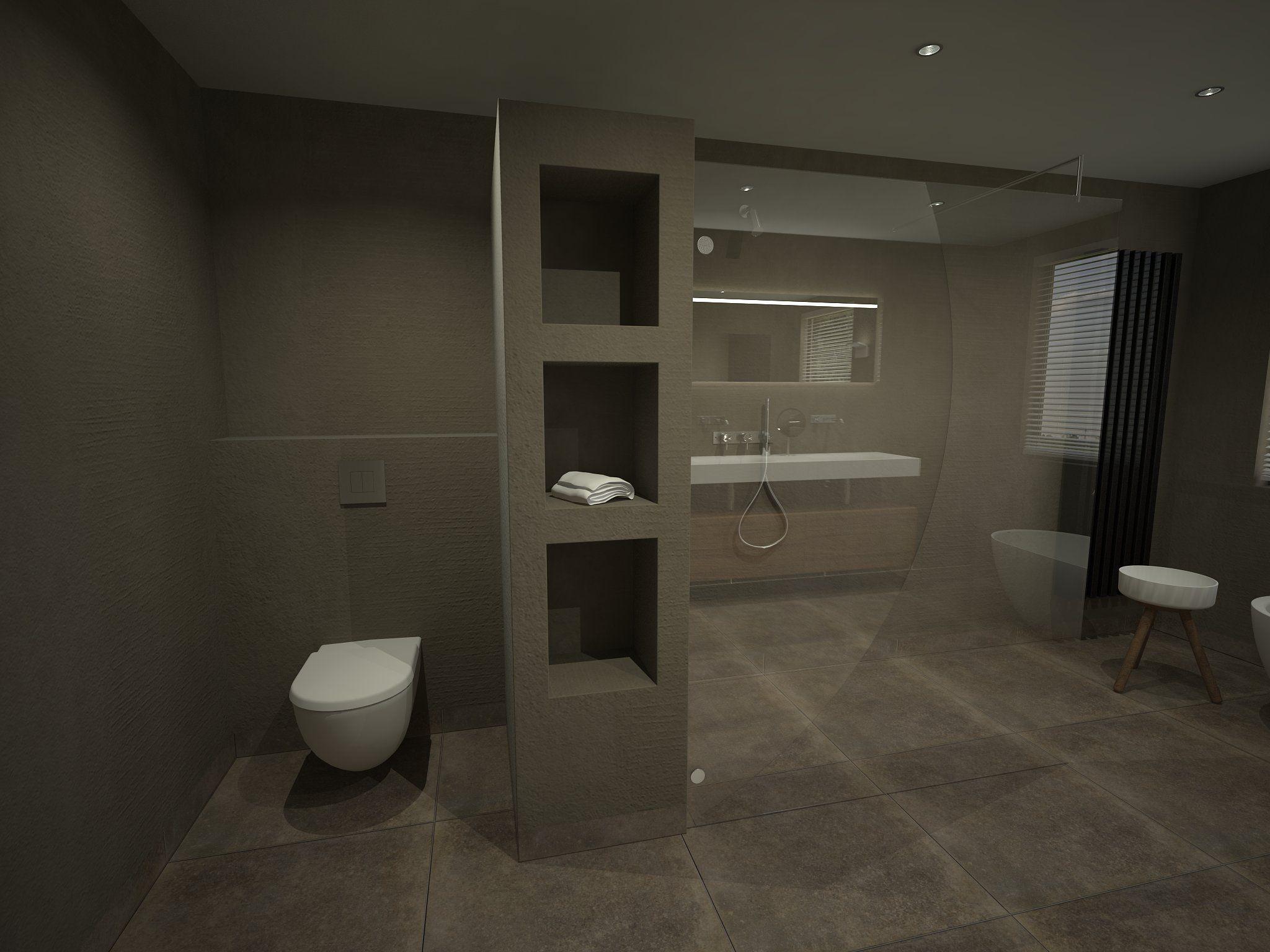 Beniers Badkamers - Voor een badkamer in Beton-Cire - Ideeën voor ...