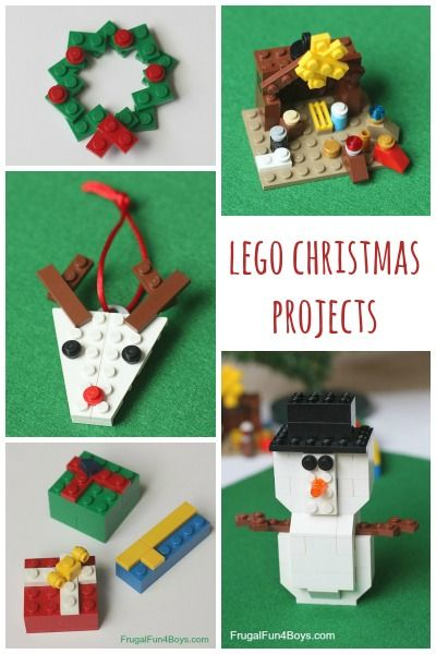 Five Lego Christmas Projects To Build With Instructions Frugal Fun For Boys And Girls Lego Christmas Christmas Projects Christmas Diy