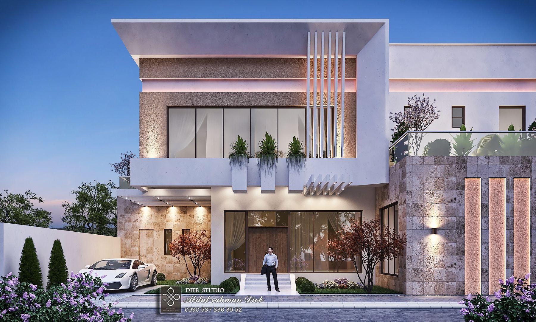 Smaal Modern Villa Modern House Exterior Home Building Design Facade House