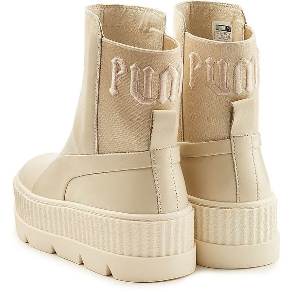 61a804e35403 FENTY Puma by Rihanna Leather Creeper Ankle Boots ( 215) ❤ liked on Polyvore  featuring shoes