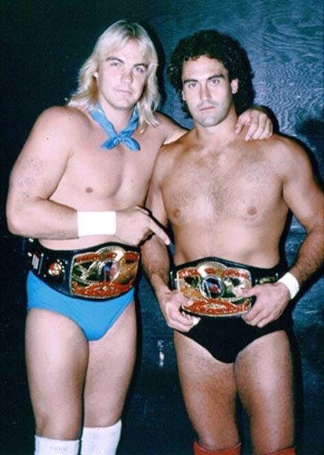 Barry Windham & Mike Rotunda - Does Bo Dallas not look like