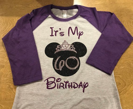 Personalized Disney Birthday Minnie Baseball Style Shirt