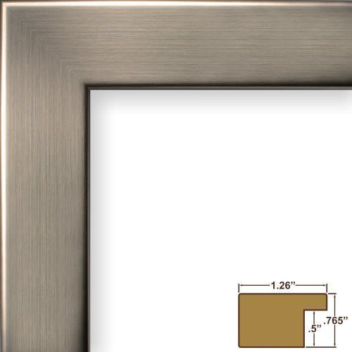 Craig Frames Fm26wa1114c 1 26 Inch Wide Picture Poster Frame In Smooth Grain Finish 11 By 14 Inch Silver Picture Frames Modern Picture Frames Frame