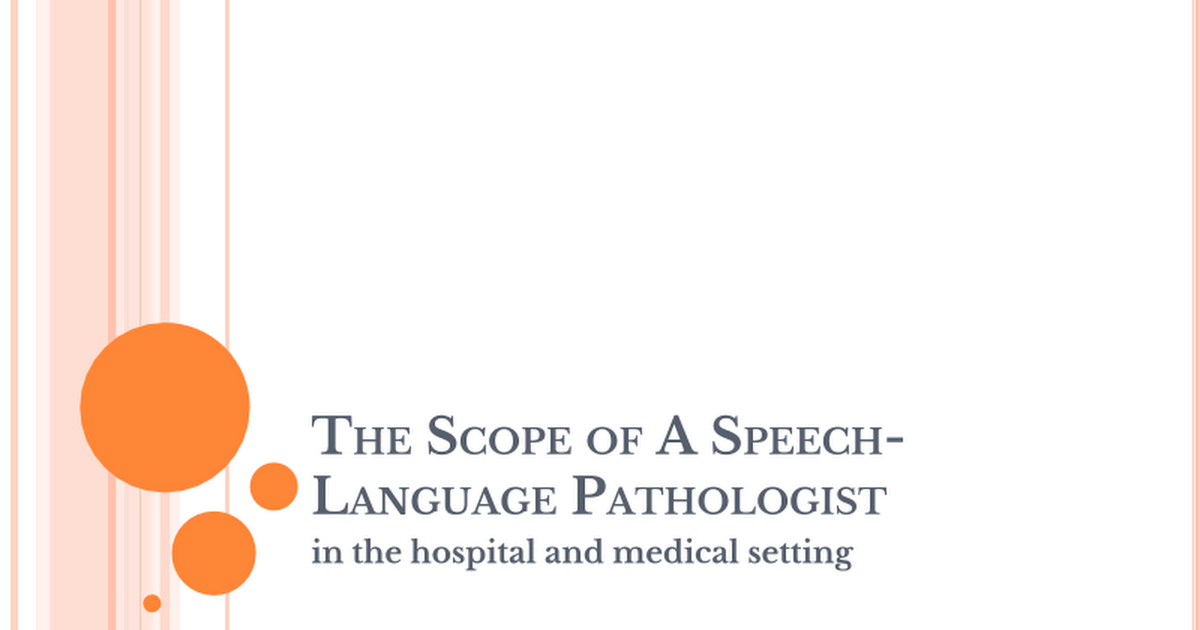 SpeechLanguage Pathologist What Is A  Speech And Language Info