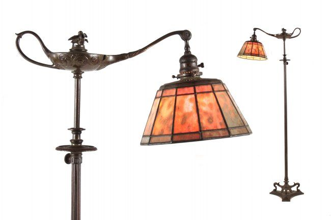 Tiffany bronze aladdin floor lamp lot 1133 interior design tiffany bronze aladdin floor lamp aloadofball Images