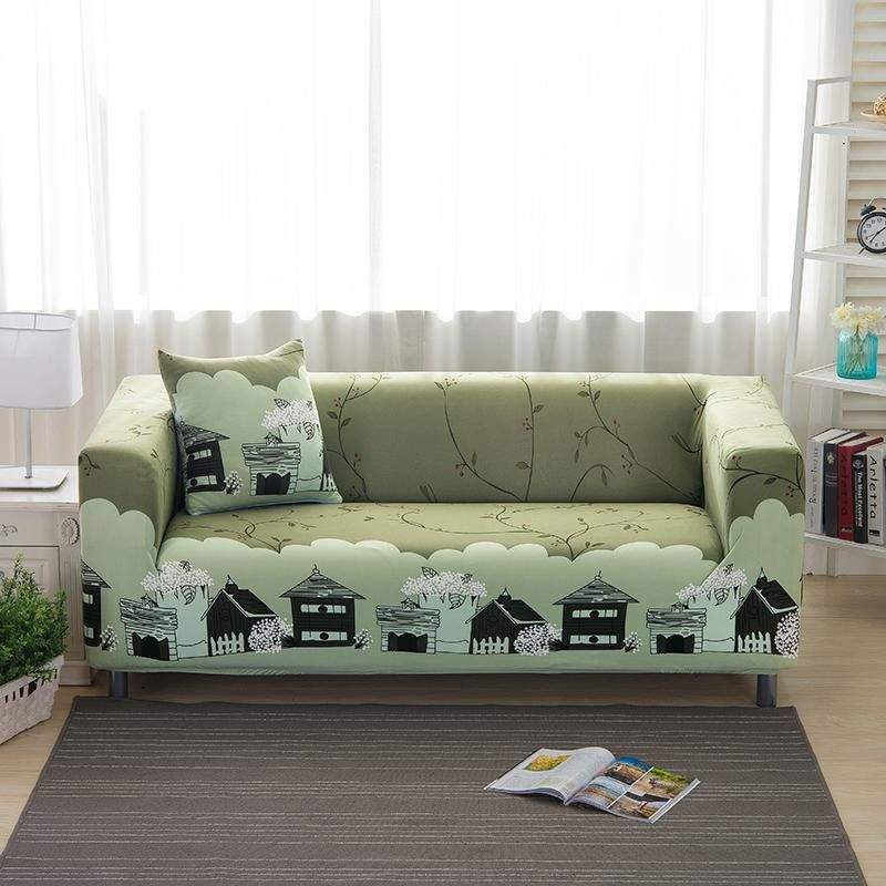 Sectional Sofa Covers Elastic Spandex Printed Sofa Covers Polyester