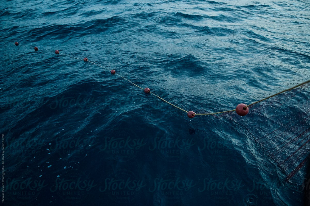 Commercial Fishing Net And Ocean, Fourni Islands, Aegean Sea, Gr   Stocksy United #aegeansea Commercial Fishing Net And Ocean, Fourni Islands, Aegean Sea, Gr   Stocksy United #aegeansea