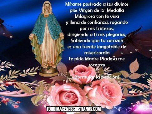 Imagen De La Vírgen De La Medalla Milagrosa Con Oración Imágenes Cristianas Gratis Imágenes De La Virgen Virgen Milagroso
