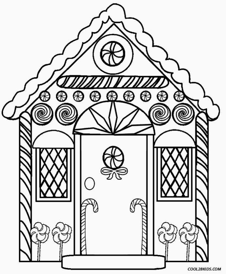 Gingerbread House Coloring Sheets | Gingerbread | Pinterest ...