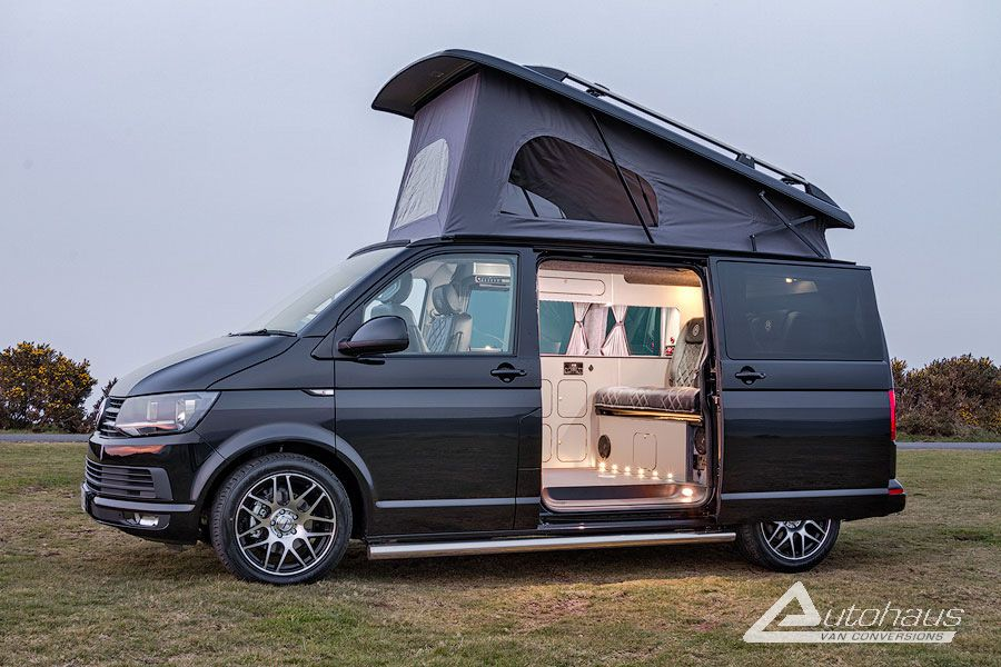 deep black spartan vw t6 campervan conversion vw. Black Bedroom Furniture Sets. Home Design Ideas