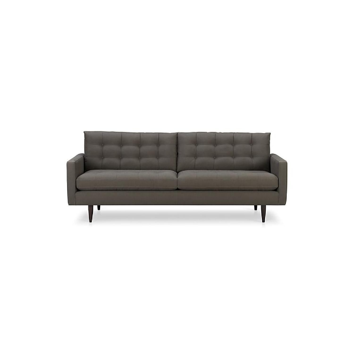 Crate Barrel Petrie Camden Sofa In Graphite
