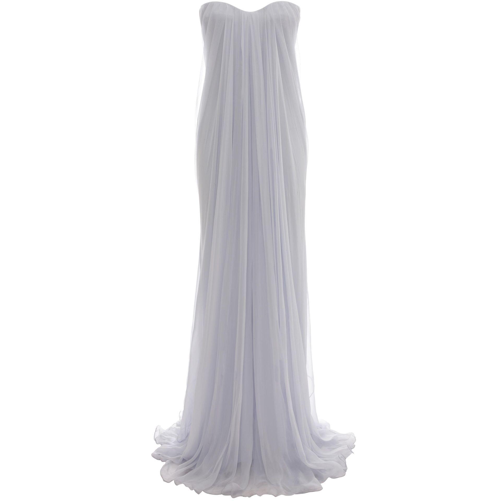 Draped Bustier Gown Alexander McQueen | Long Dress | Dresses ...