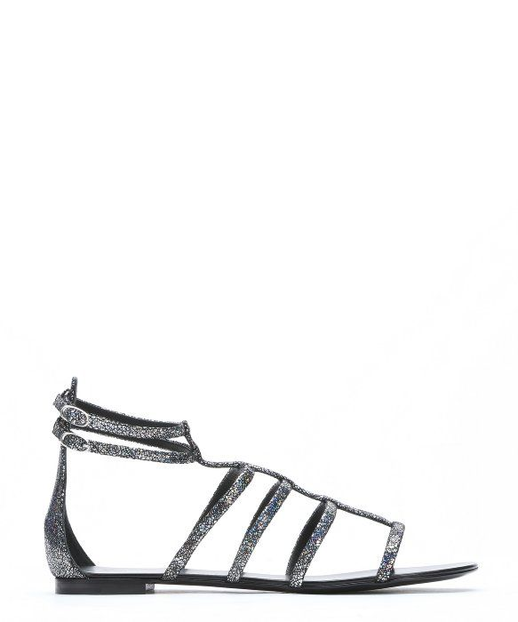 cheap fashionable clearance wholesale price Giuseppe Zanotti Holographic Leather Sandals S8Zkl