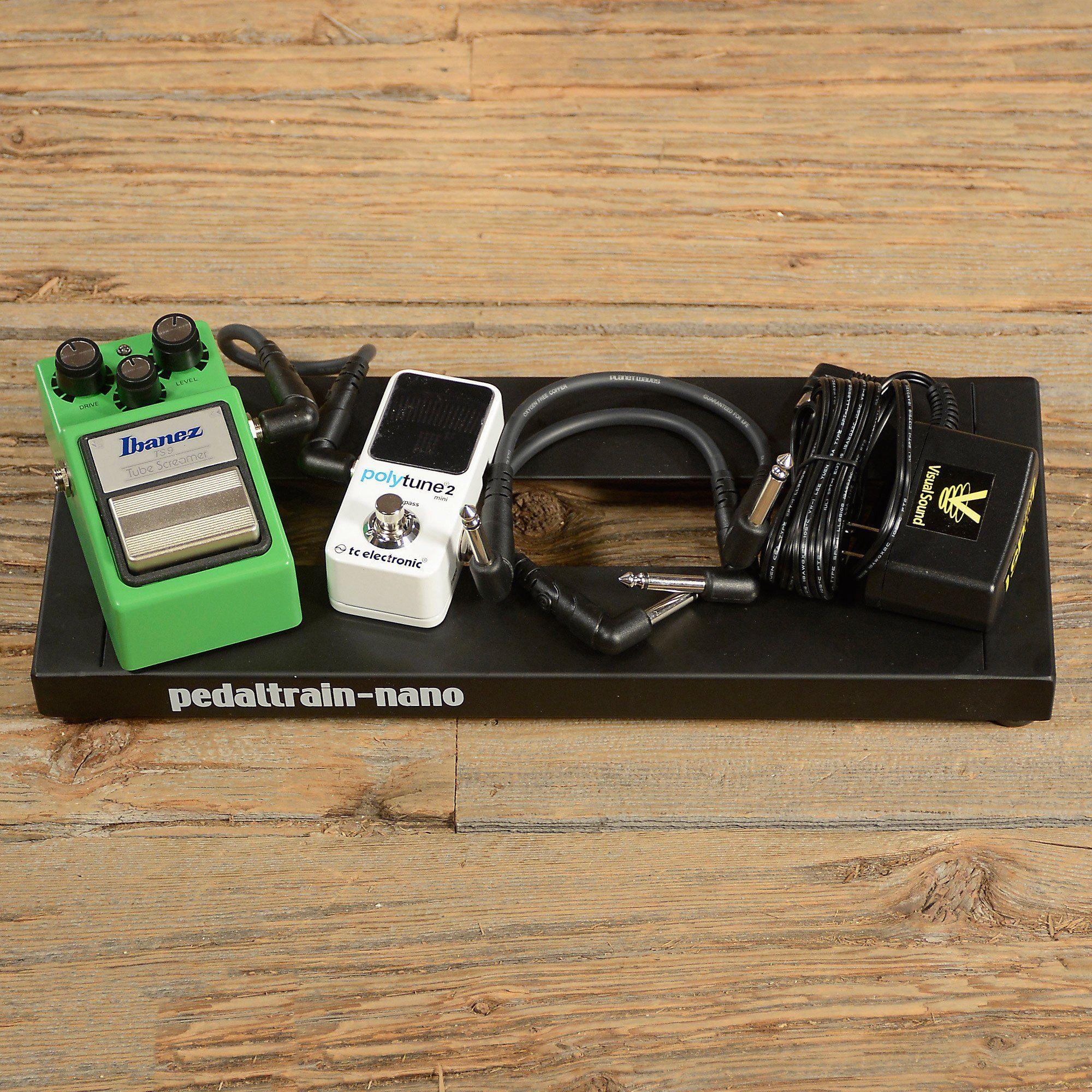 Ibanez TS9 Tube Screamer Pedalboard Bundle w/Polytune Mini 2
