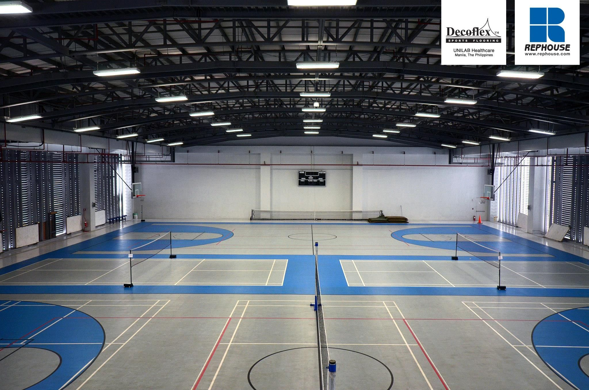 Decoflex Universal Indoor Seamless Polyurethane Sports Flooring Unilab The Philippines Volleyball Designs Indoor Volleyball Indoor Basketball Court