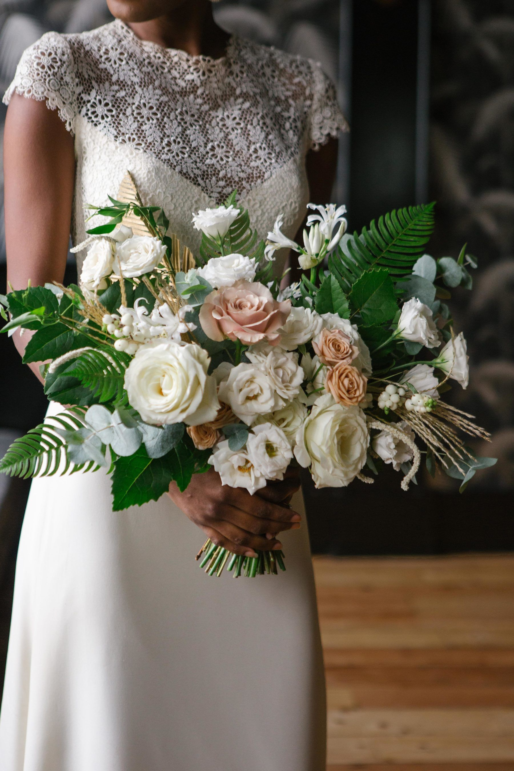 Moody Neutral Boho Wedding Inspiration At 501 Union In Brooklyn