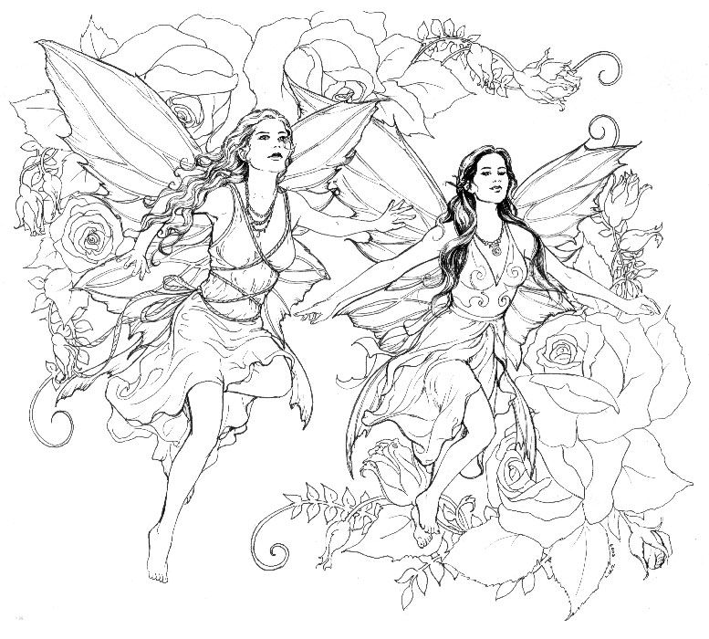 Fairy Friends By Linzarcher On Deviantart Fairy Coloring Pages Fairy Coloring Coloring Books