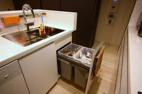キッチンのゴミ箱ってどうしてる 収納アイデア実例まとめ リフォーム費用 価格 料金の無料一括見積もり リショップナビ ゴミ箱 キッチン キッチン 収納棚 造作 収納 アイデア