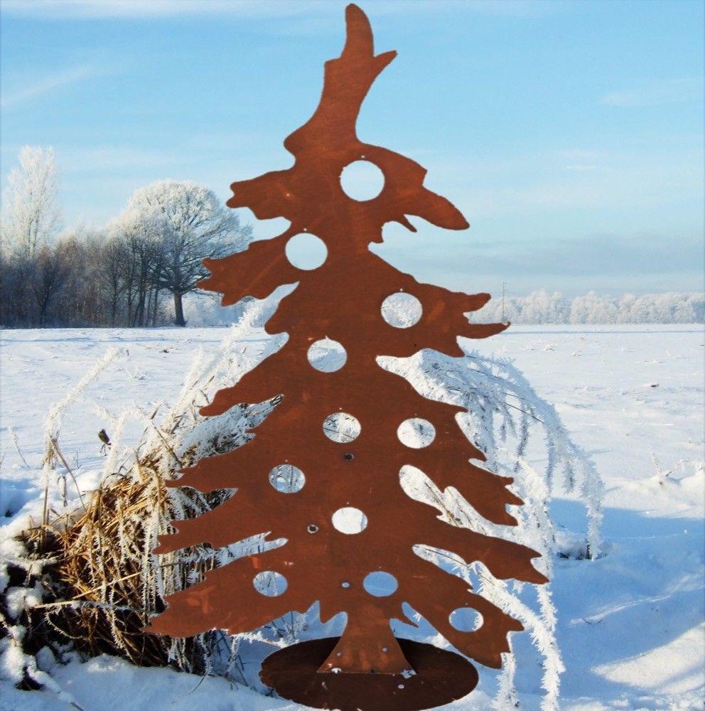 Tannenbaum Edelrost.Eine Besonders Schön Geformte Weihnachtsbaum Silhouette Dieser