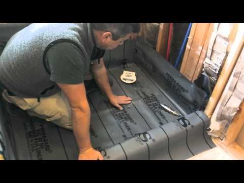 how to waterproof and tile walk in tile shower diy step by step instructions part 1 of 2. Black Bedroom Furniture Sets. Home Design Ideas