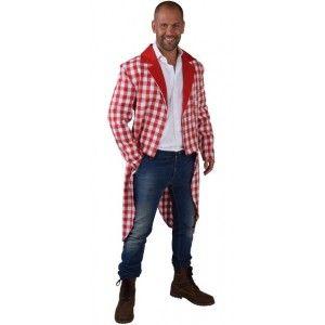 Déguisement queue de pie damier rouge blanc homme luxe a500dcc0101