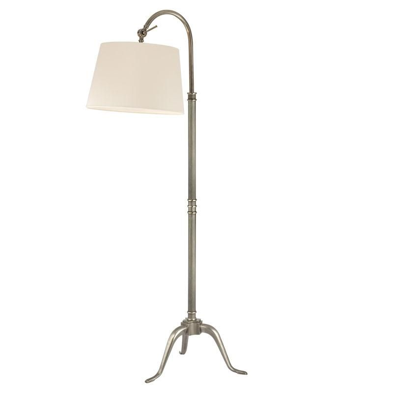 One Light Aged Silver Floor Lamp, Annapolis Lamp And Shade Center