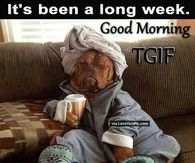 Good Morning Its Been A Long Week TGIF