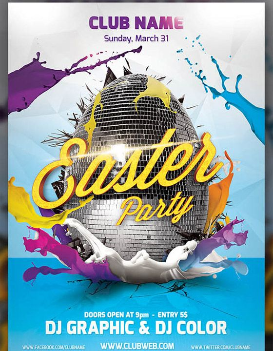 Easter Party Flayer Template  WebMantra    Easter Party
