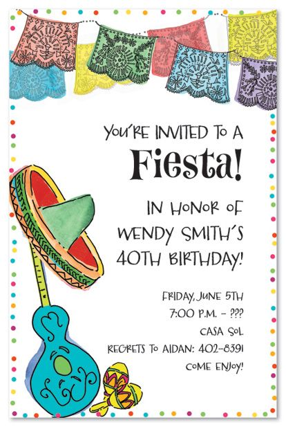 no time for a siesta were having a graduation fiesta colorful, invitation samples