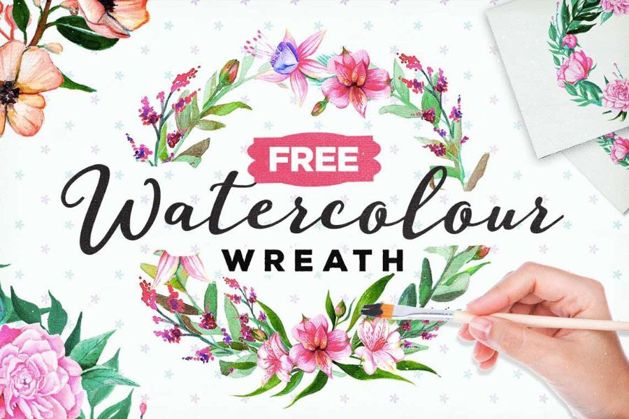 Free Watercolor Floral Wreath Floral Wreath Watercolor