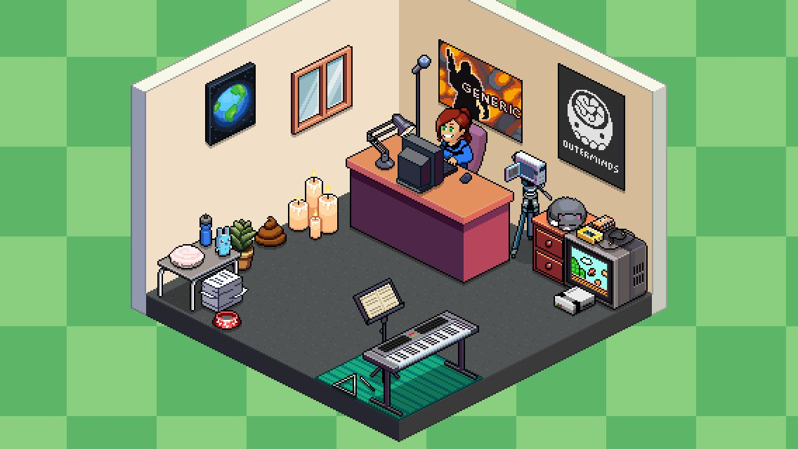 Tuber Simulator Room Ideas My awesome room in Pewdiepieu0027s Tuber Simulator!!