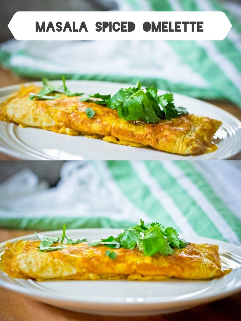 Masala Spiced Omelette: Easy, Quick Omelette made with Indian Spices