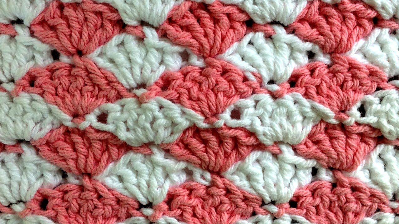 Shell Crochet Stitch Change Color Every Row Pattern by Maggie Weldon ...