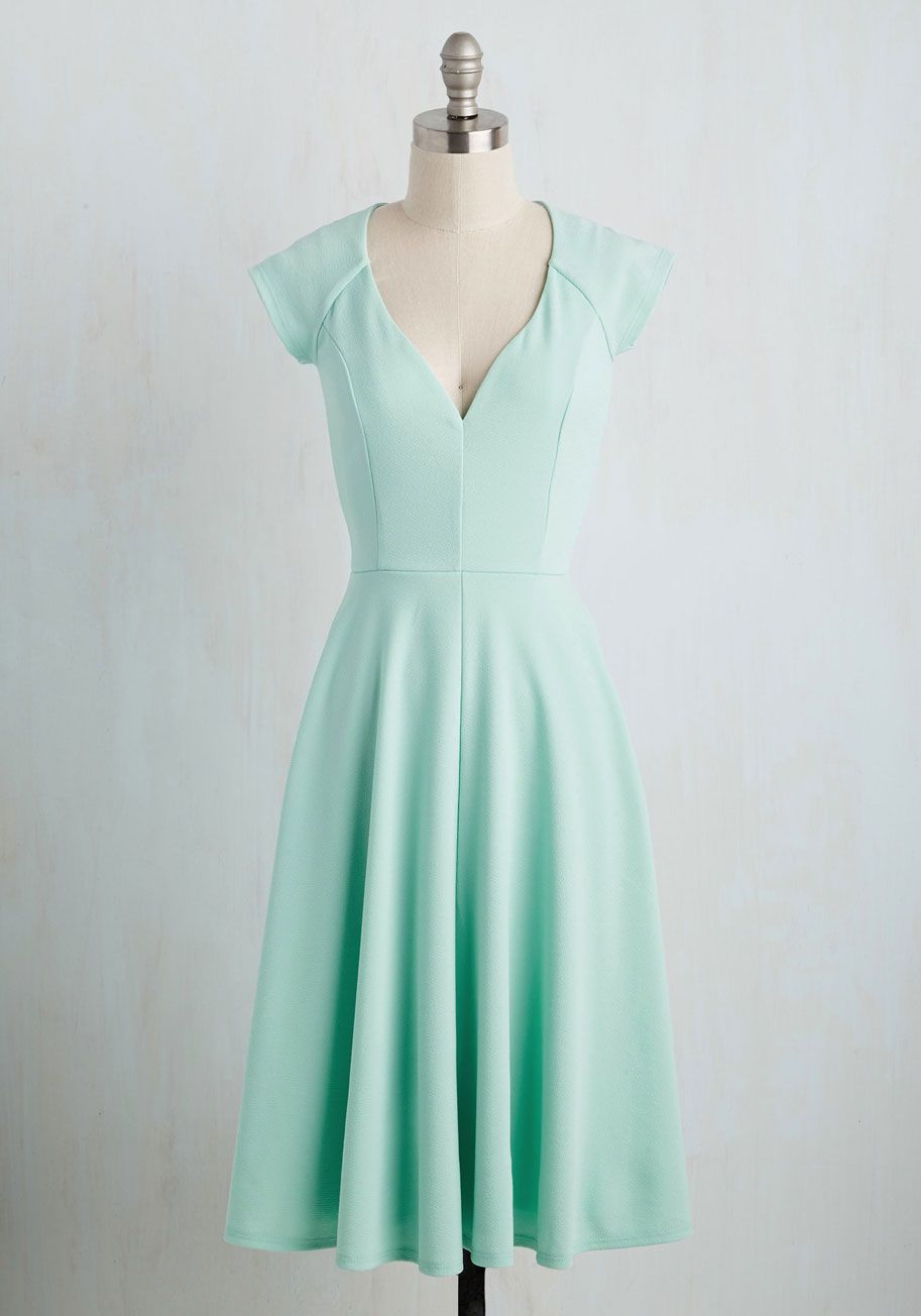 Date Night Done Right A-Line Dress in Periwinkle | Mint dress ...