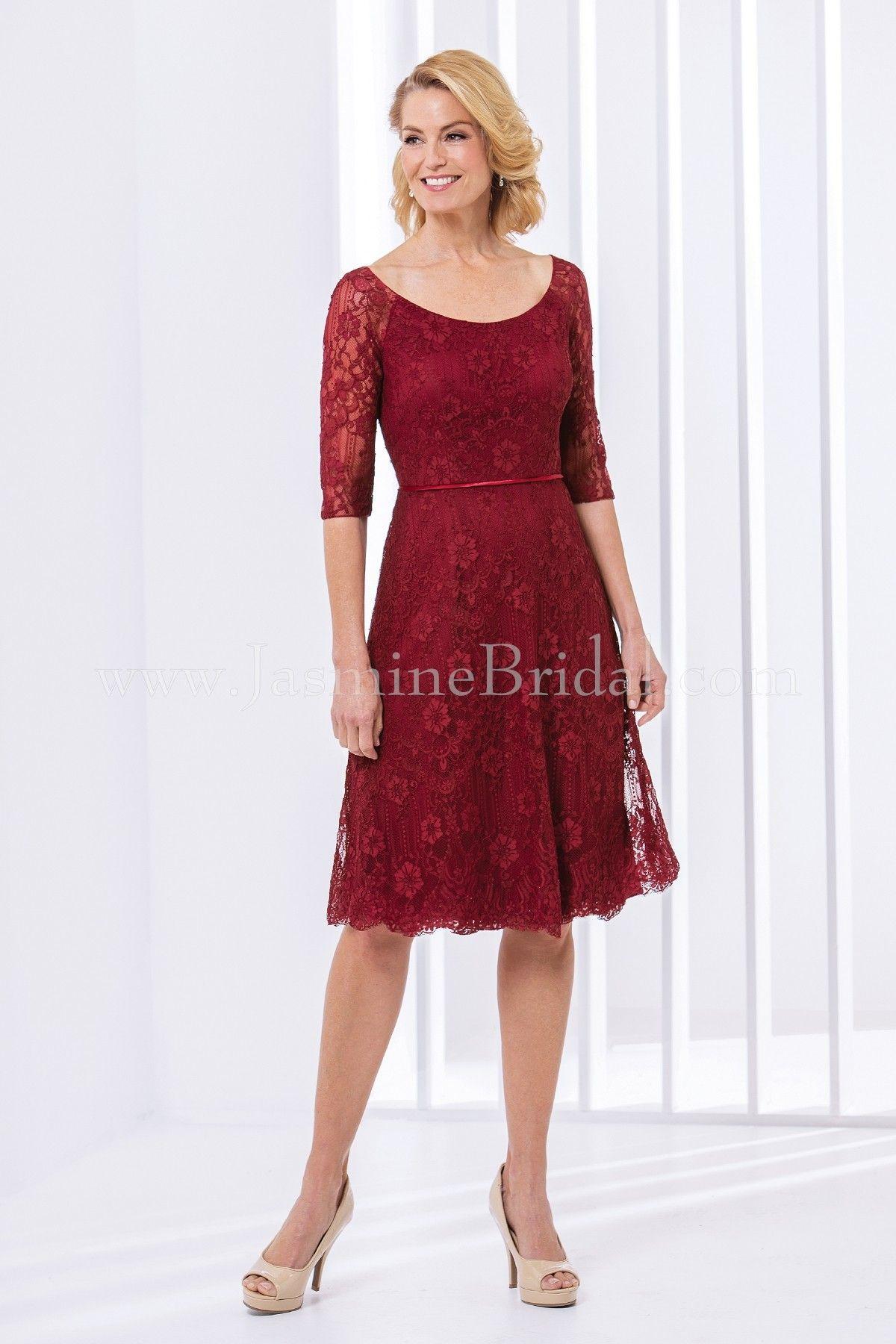 Jasmine Bridal Black Label Style M180056 In Berry