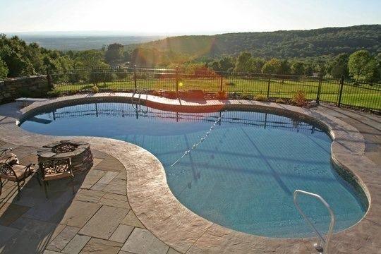 Pool Gallery Lagoon Shaped Inground Pools Western Ma Ct Pool Pavers Pinterest