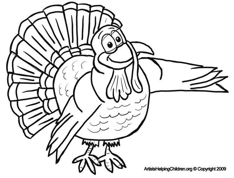 Thanksgiving Cartoon Turkeys Coloring Pages Printouts & Turkey ...