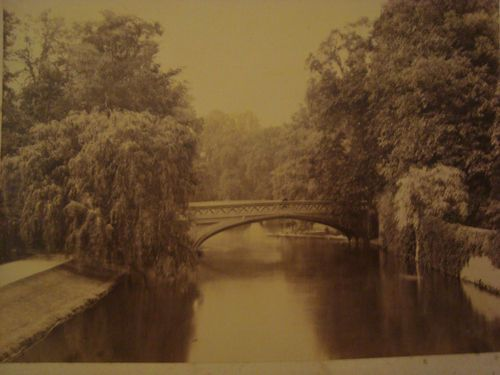 Antique Photograph of bridge at Cambridge @ 1889 from Earnshaw Family