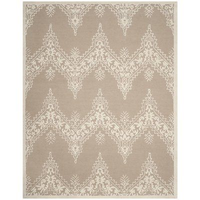 Bungalow Rose Anita Hand-Tufted Beige/Ivory Area Rug Rug Size: