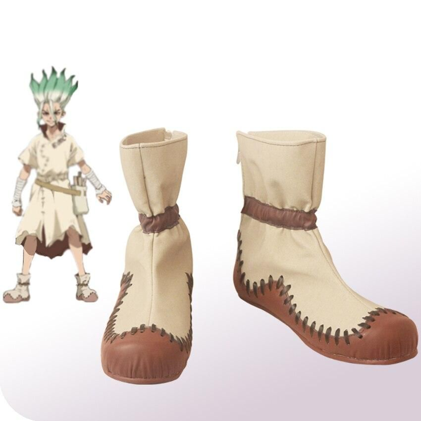 Anime dr stone ishigami senku boots men women adult