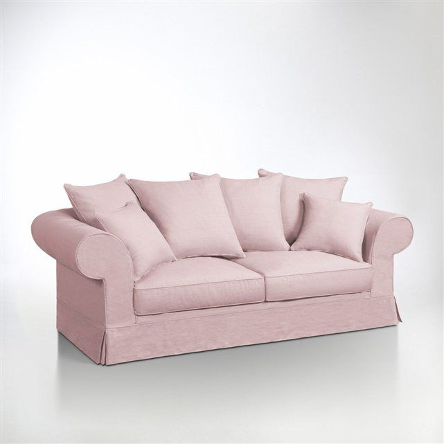 canape rose convertible 3 places adelia copyright la redoute pink sofas canap s rose. Black Bedroom Furniture Sets. Home Design Ideas
