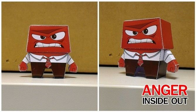 Disney  Inside Out - Anger Free Paper Toy Download - http   www ef9bbec4b35