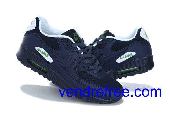 huge discount 697e6 3a236 Vendre Pas Cher Homme Chaussures Nike Air Max 90 (couleur blanc,bleufonce)  en ligne en France.