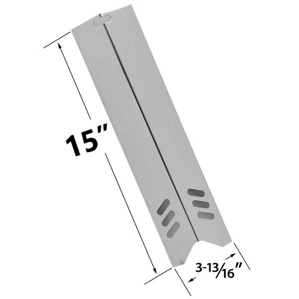 STAINLESS STEEL HEAT SHIELD FOR BACKYARD GRILL, UNIFLAME, PHOENIX, BHG,  BACKYARD CLASSIC GAS GRILL MODELS Fits Compatible Backyard Grill Models ...