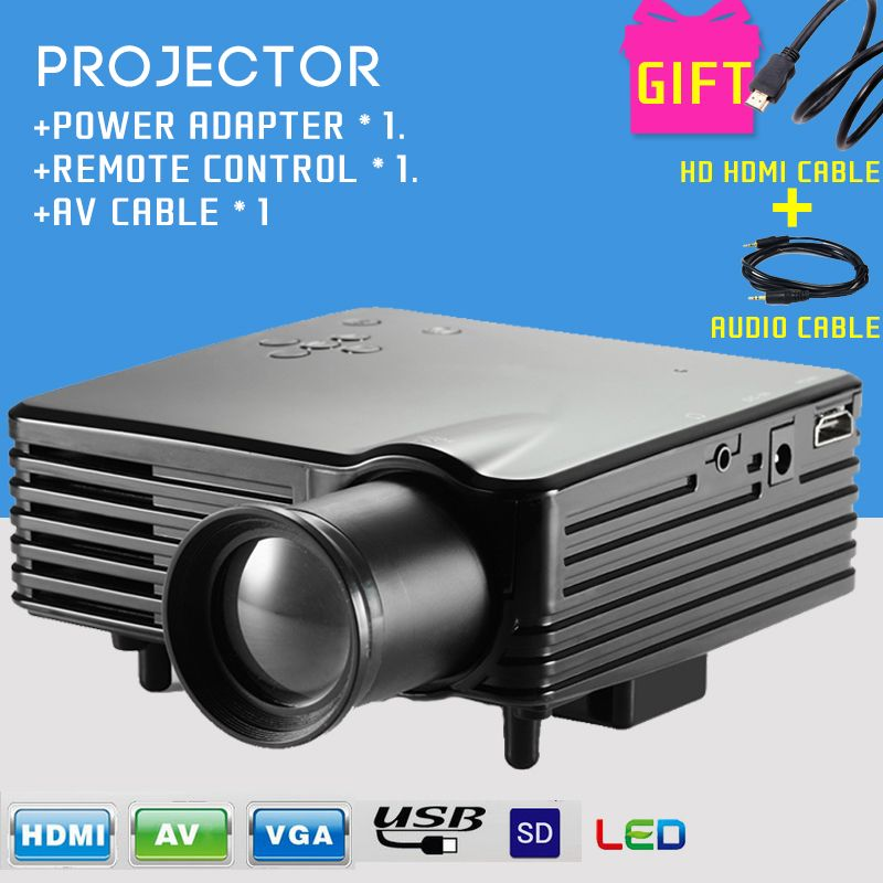 Find More Projectors Information About Barcomax Gp7s 1080p 120 Lumens Portable Mini Led Projector For Home Theater Game Mini Projector Hd Hdmi Cable Audio C