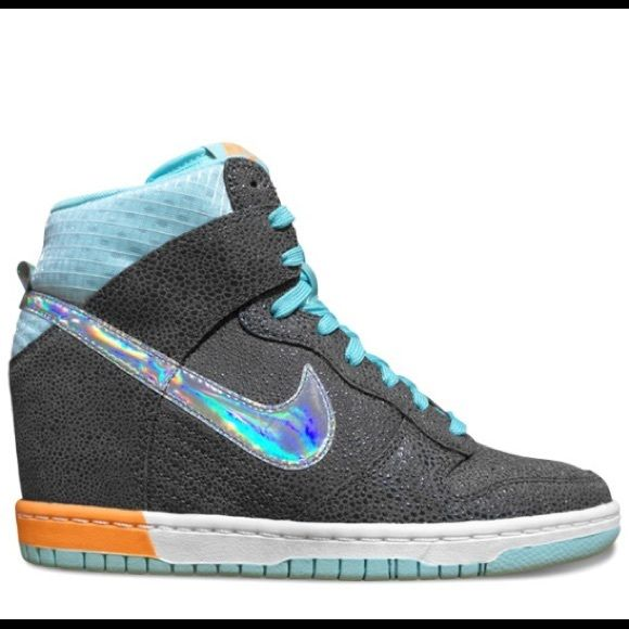 Wedges sneakers nike blue
