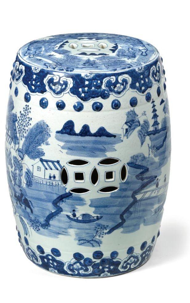 Garden Stools, Side Tables, Chinese Blue & White, Porcelain Art, so decorative, over 3,000 beautiful limited production interior design inspirations inc, furniture, lighting, mirrors, tabletop accents and gift ideas to enjoy pin and share at InStyle Decor Beverly Hills Hollywood Luxury Home Decor enjoy & happy pinning
