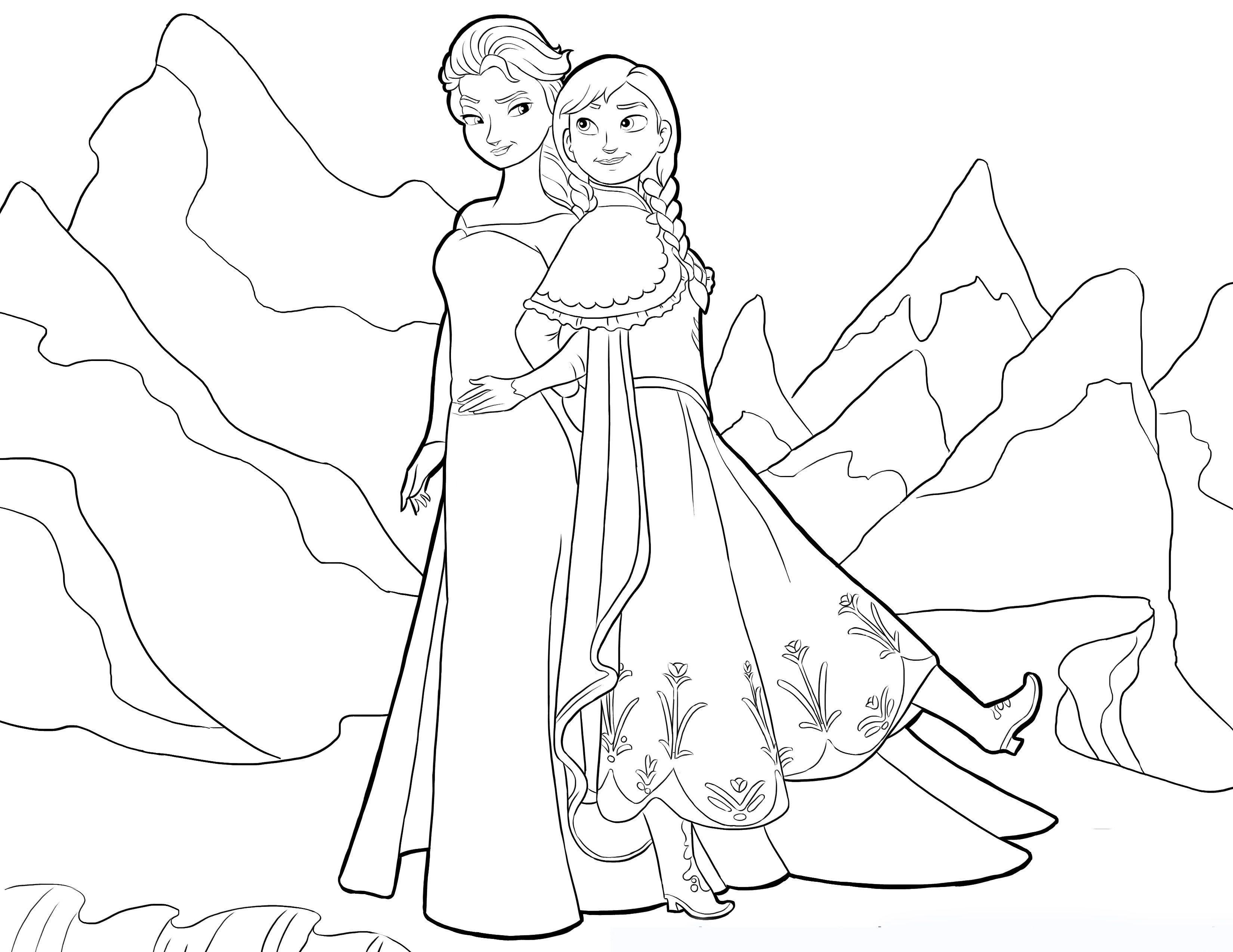 Anna Elsa Ausmalbilder : Frozen Ausmalbilder Malvorlagen Zeichnung Druckbare N 4