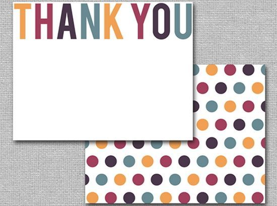 25 Beautiful Printable Thank You Card Templates - XDesigns work - thank you card template