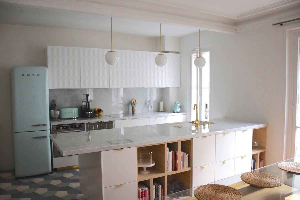 Ma nouvelle cuisine or, vert d\'eau, marbre - Anne-Sophie FashionCooking